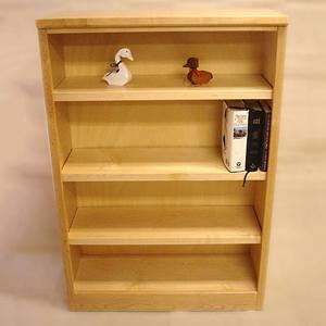 48 Maple Bookcase Natural Finish