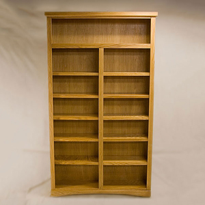 Traditional 84 Light Oak Bookcase